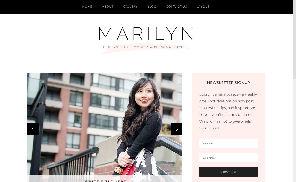 Marilyn Theme for WordPress Food Blogs