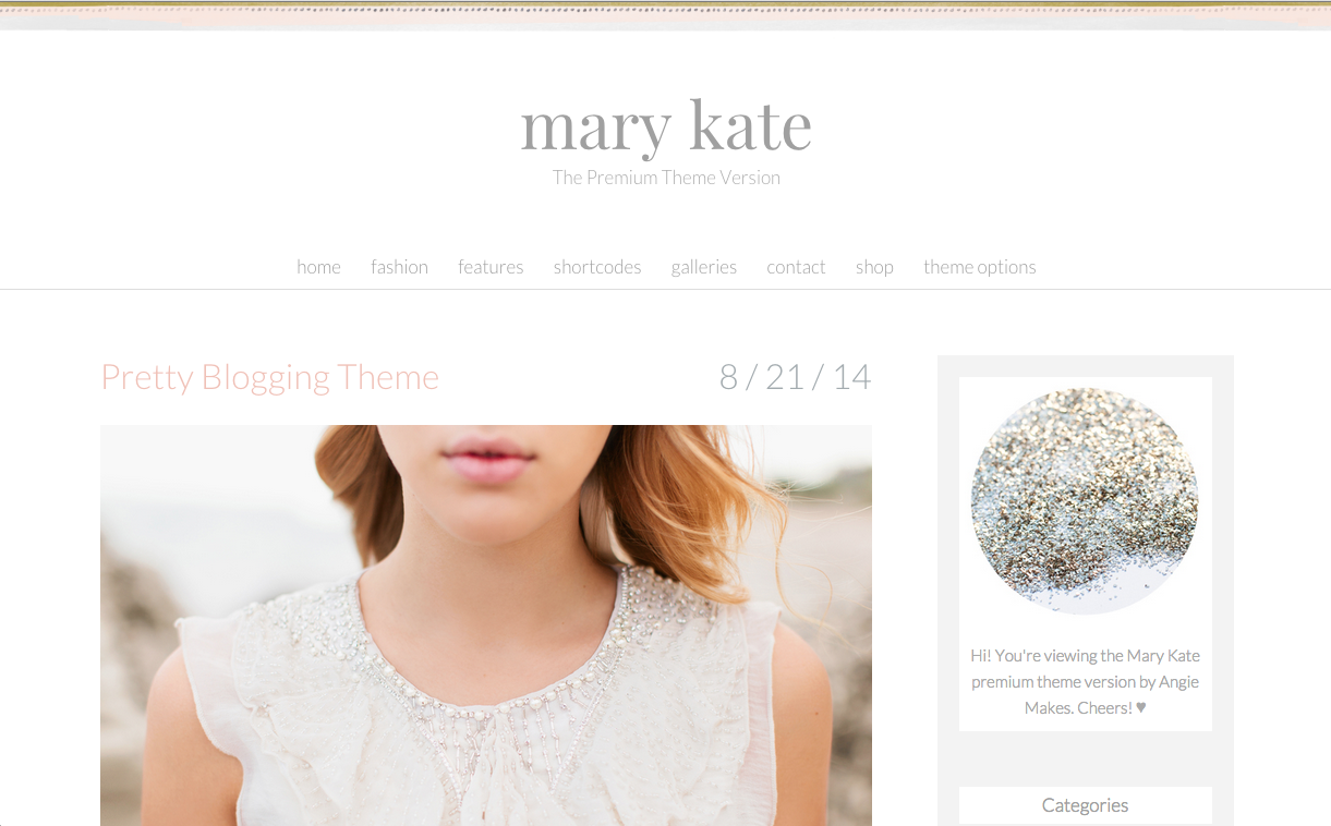 Mary Kate WordPress Theme for Food Blogs