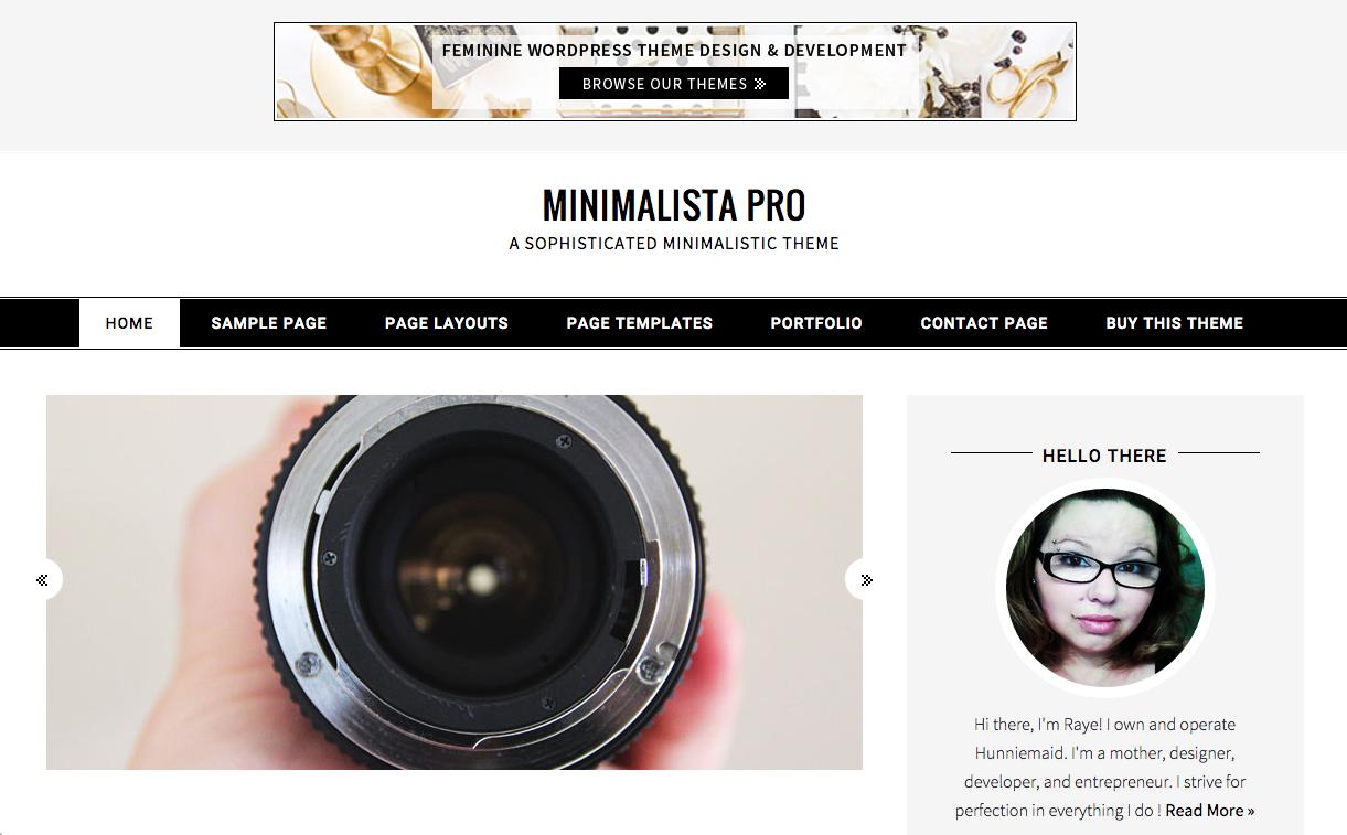 Minimalista Pro Theme for WordPress Blogs