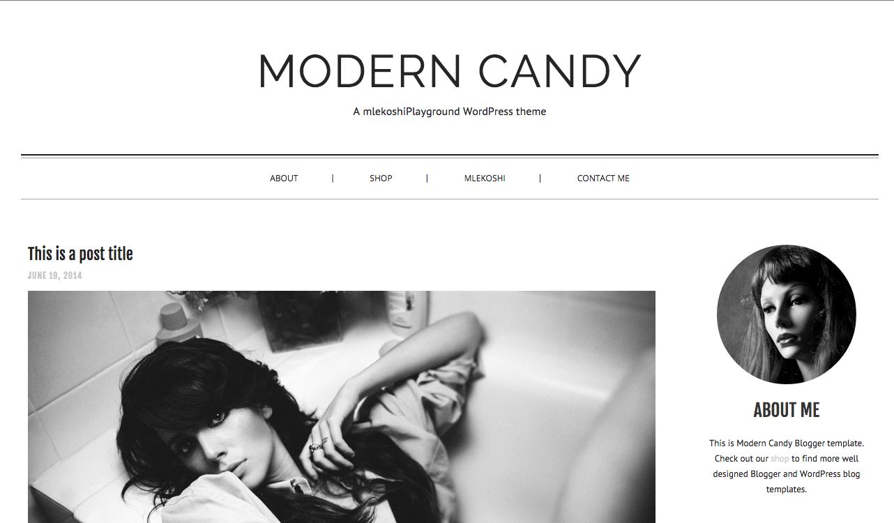 Modern Candy Theme for WordPress Blogs