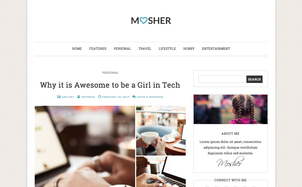 Mosher WordPress Theme for Blogs