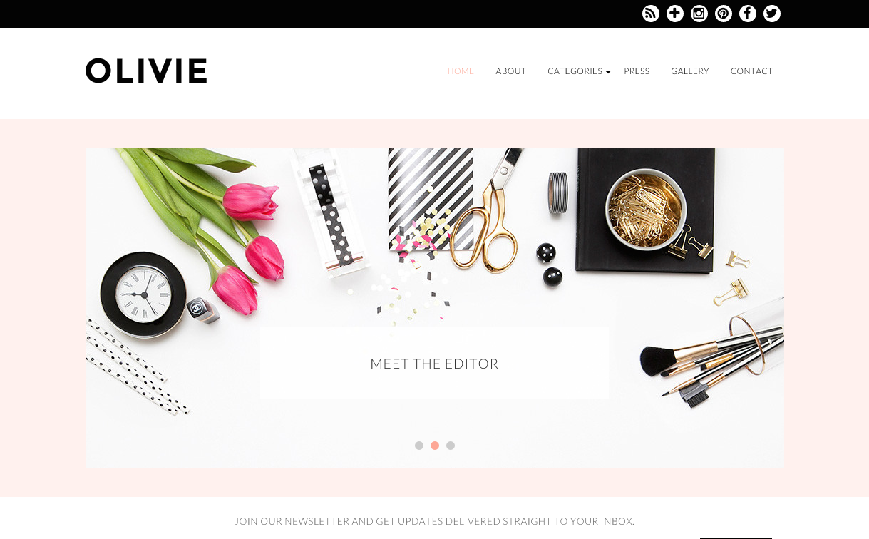 Olive Theme for WordPress Blogs
