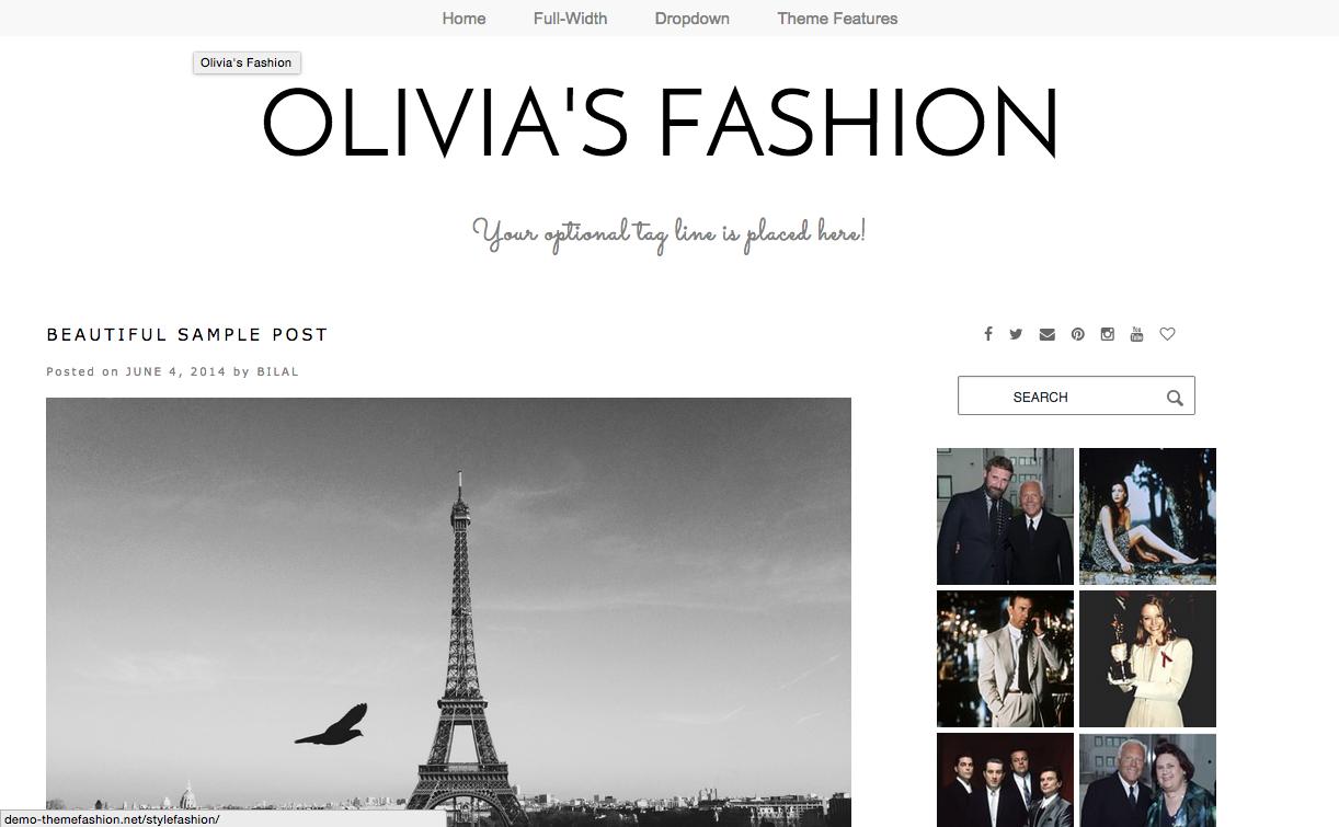 Olivia's Fashion Theme for WordPress Blogs