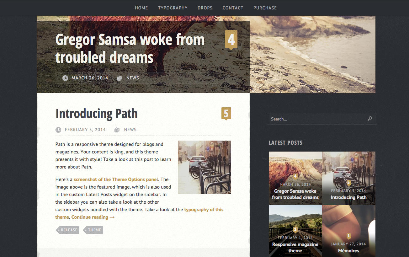 Path Theme for WordPress Blogs