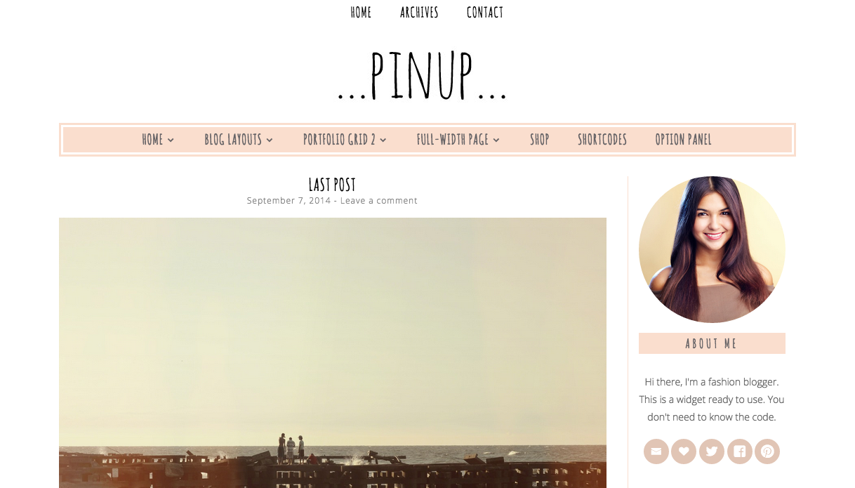 Pinup Theme for WordPress Blogs