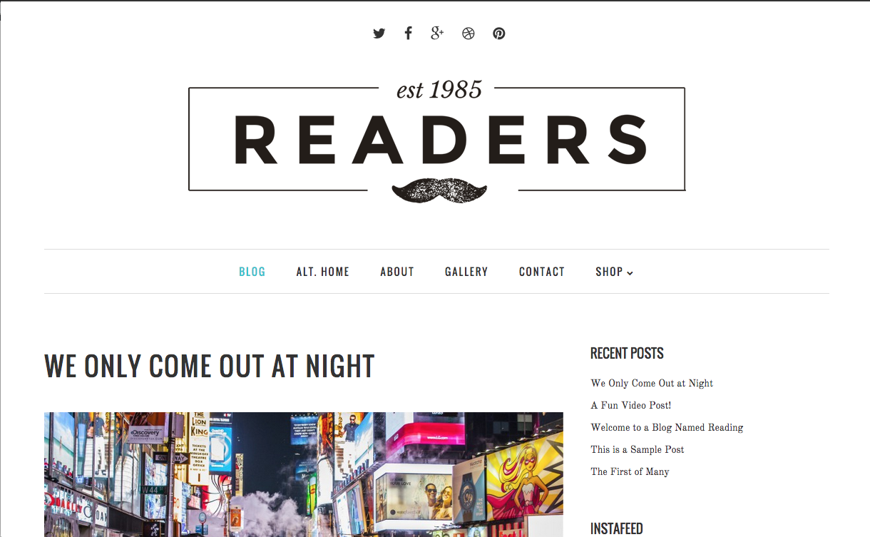 Readers Theme for WordPress Blogs