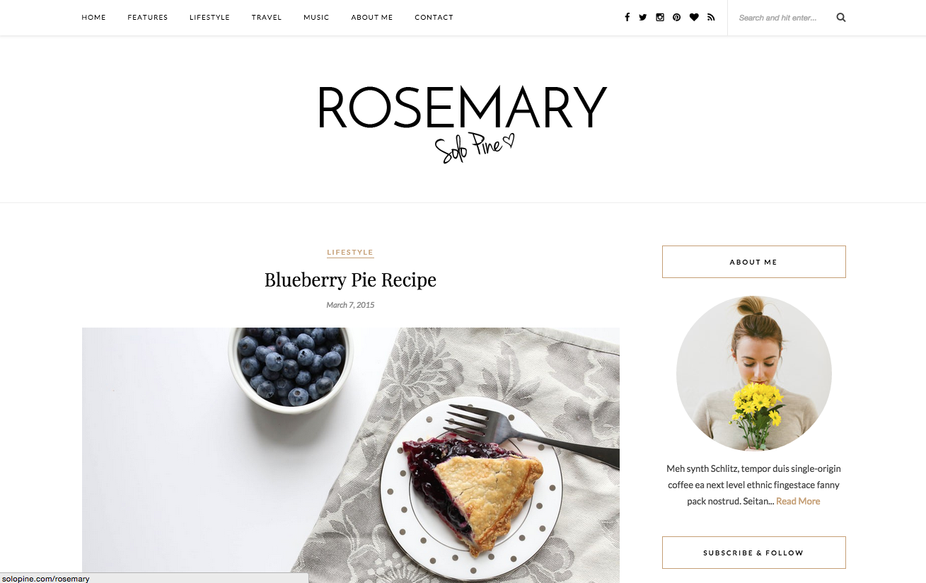 Rosemary Theme for WordPress Blogs