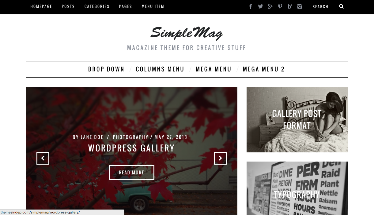 SimpleMag Theme for WordPress Blogs