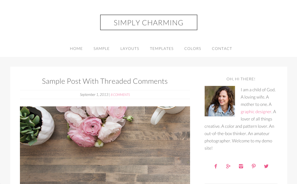 Simply Charming Theme for WordPress Blogs