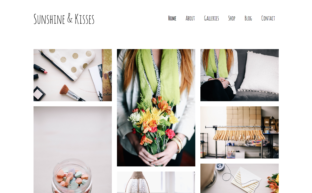 Sunshine & Kisses Theme for WordPress Blogs