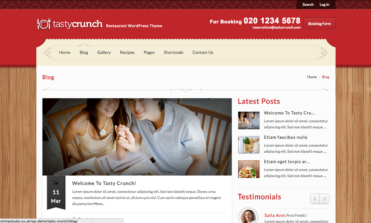 Tastycrunch Theme for Food Blogs