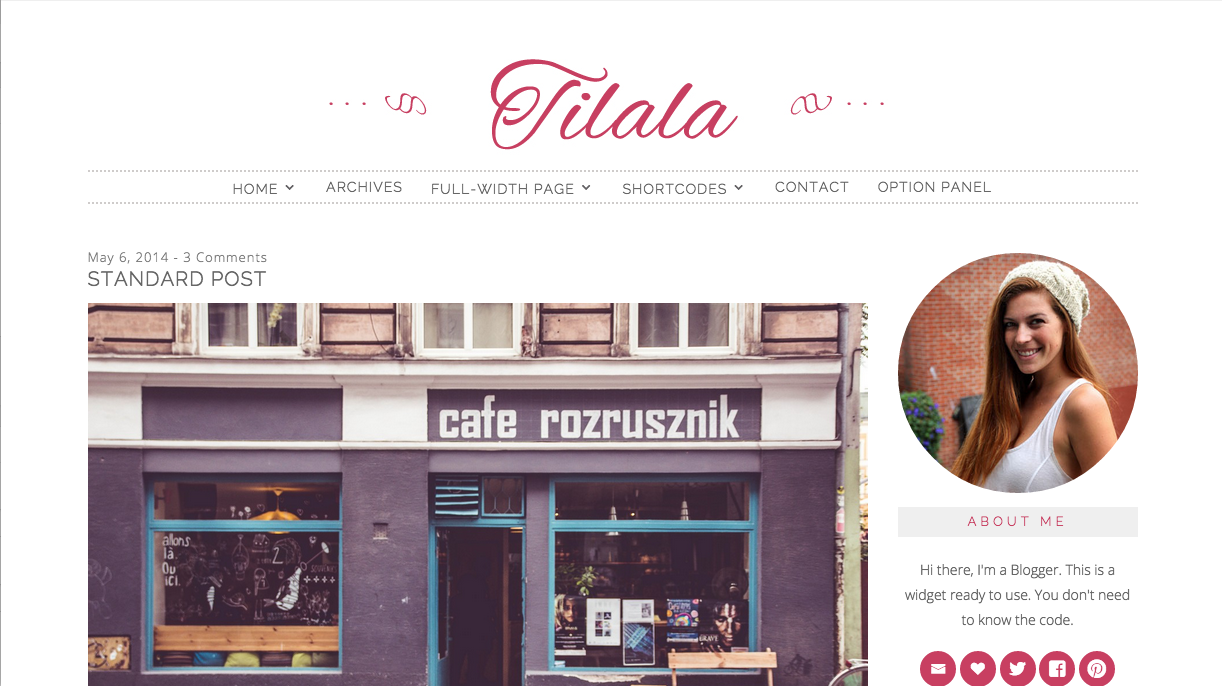 Tilala Theme for WordPress Blogs