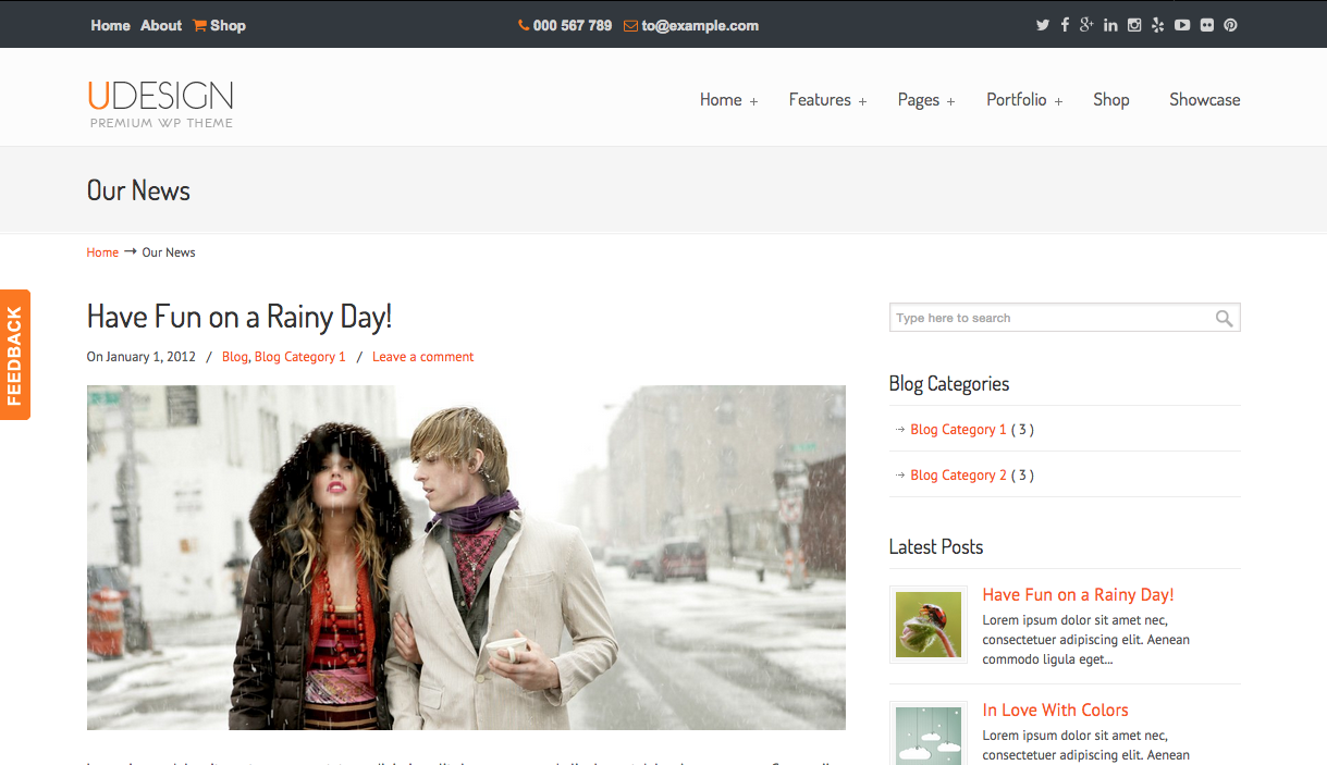 Udesign Theme for WordPress Blogs