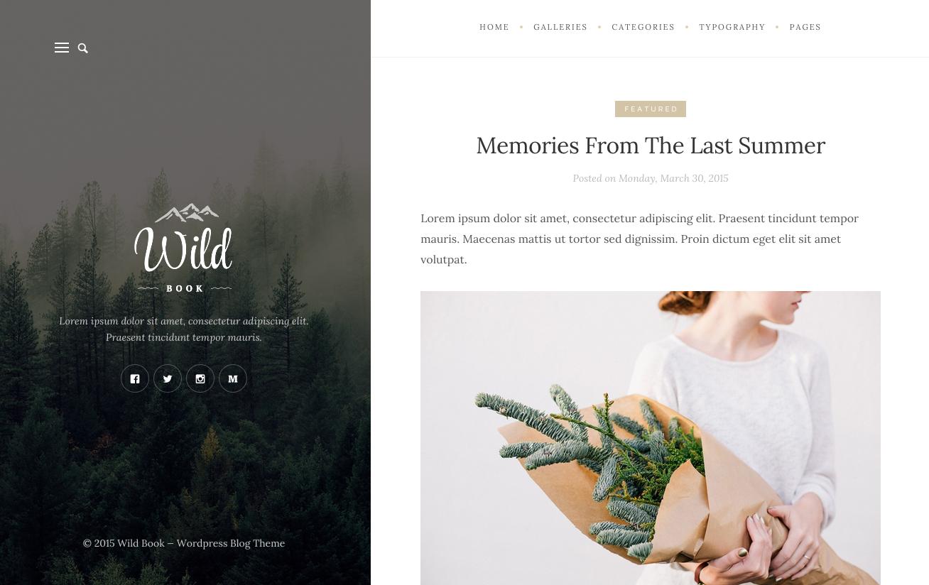 Wild Book Theme for WordPress Blogs