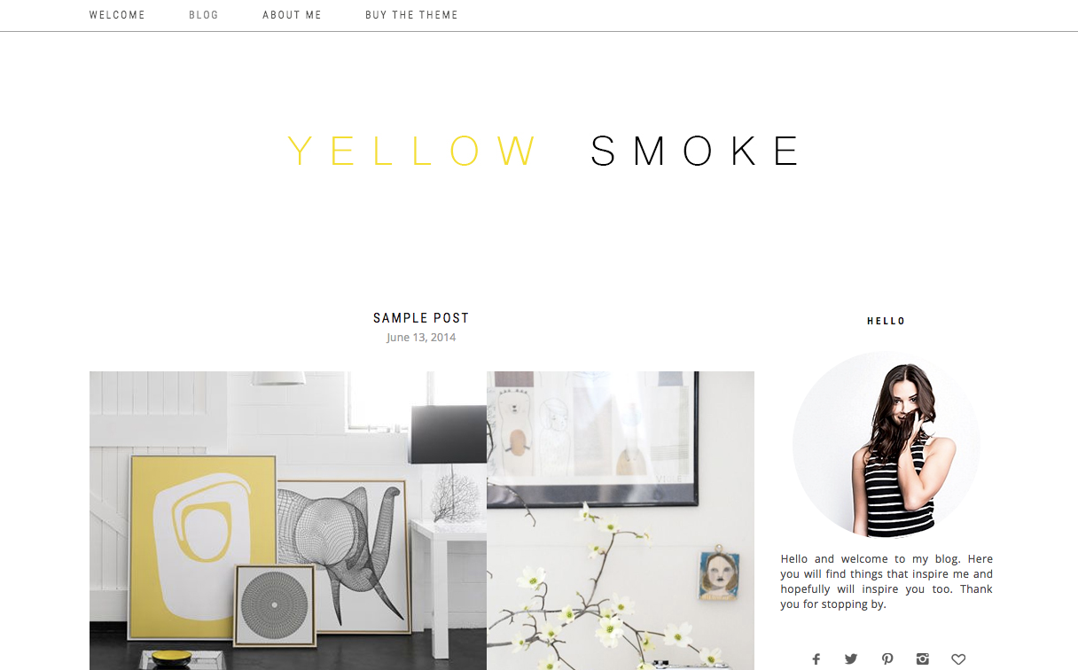 Yellow Smoke Theme for WordPress Blogs
