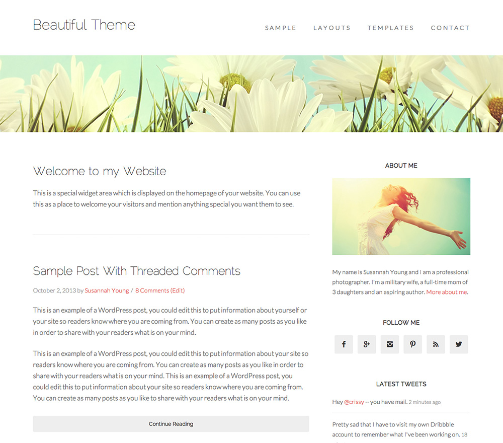 Beautiful Theme for WordPress Food Blogs