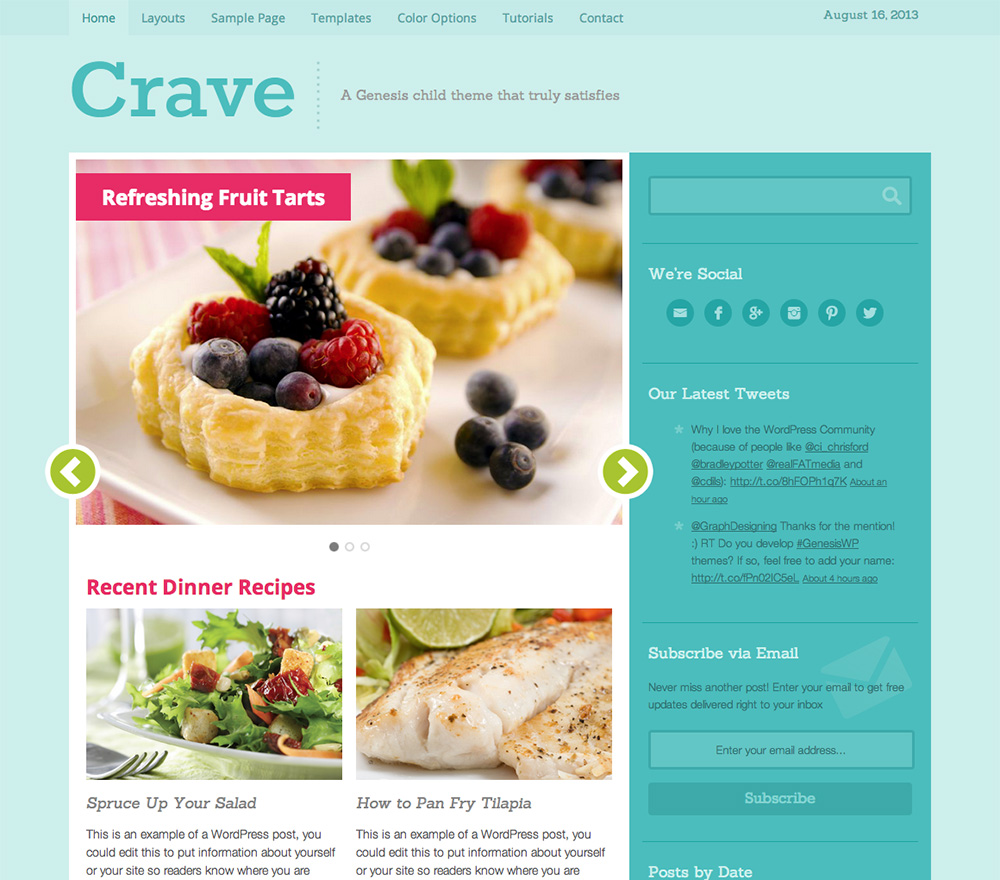 Crave Theme for WordPress Food Blogs