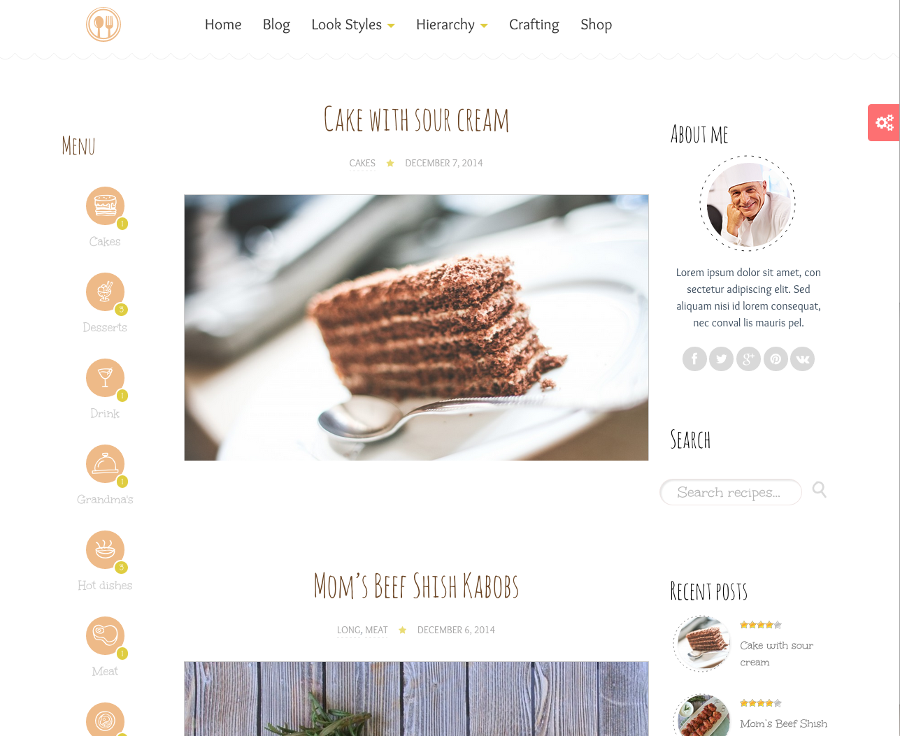Délice Plus Theme for a WordPress Food Blog