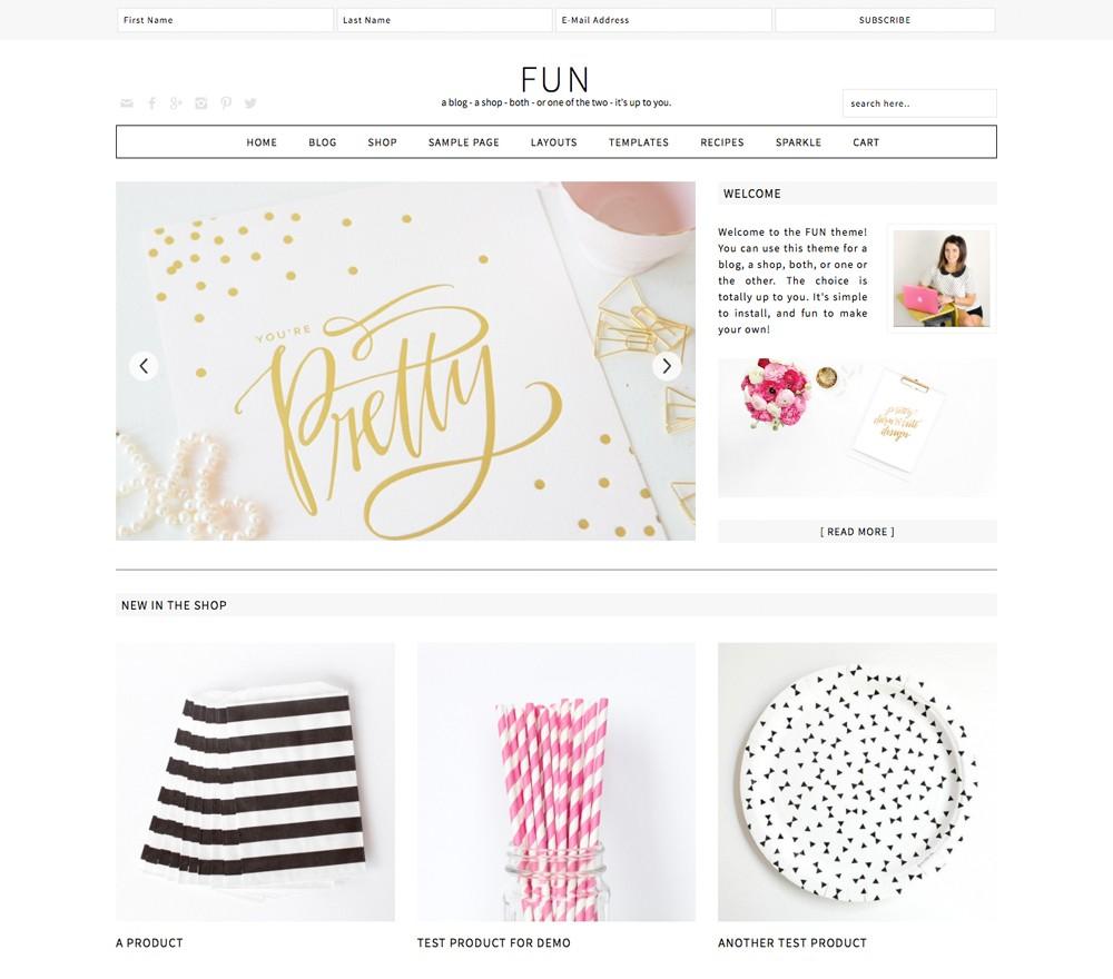 Fun Theme for a WordPress Food Blog