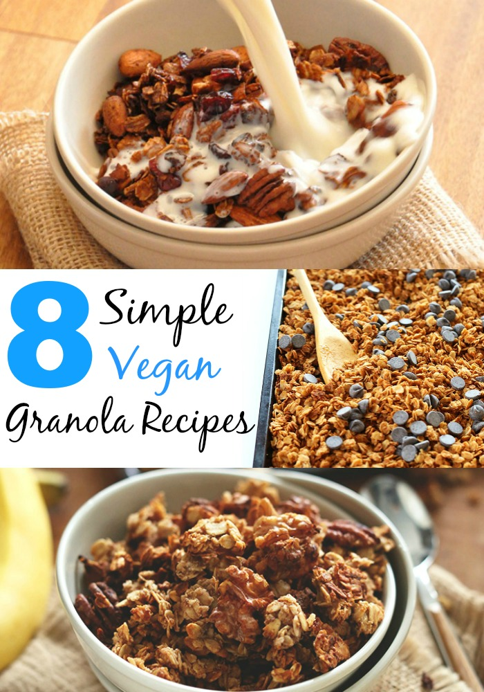 8 simple vegan granola recipes minimalist baker granolacollage ccuart Image collections