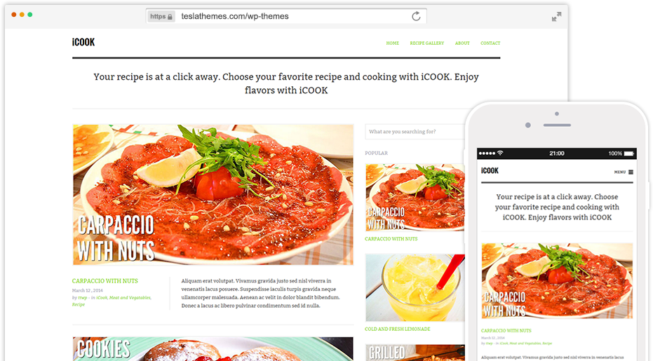 iCook Theme for WordPress Food Blogs