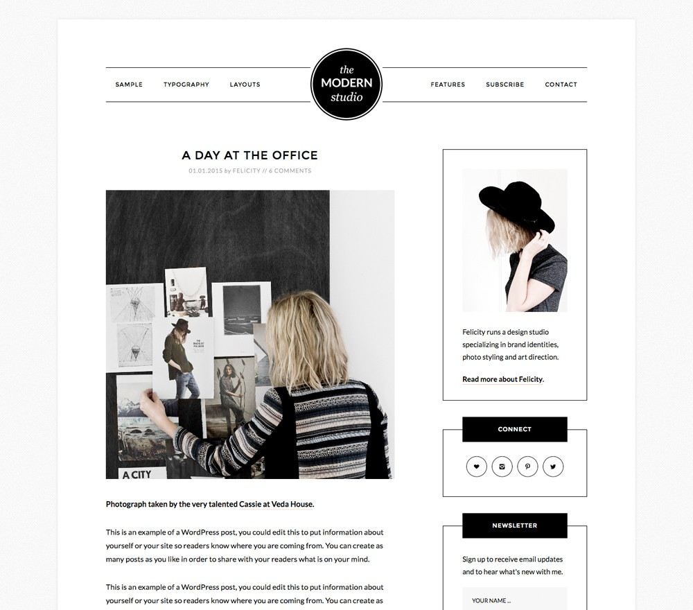 Modern Studio Pro Theme for WordPress Bloggers
