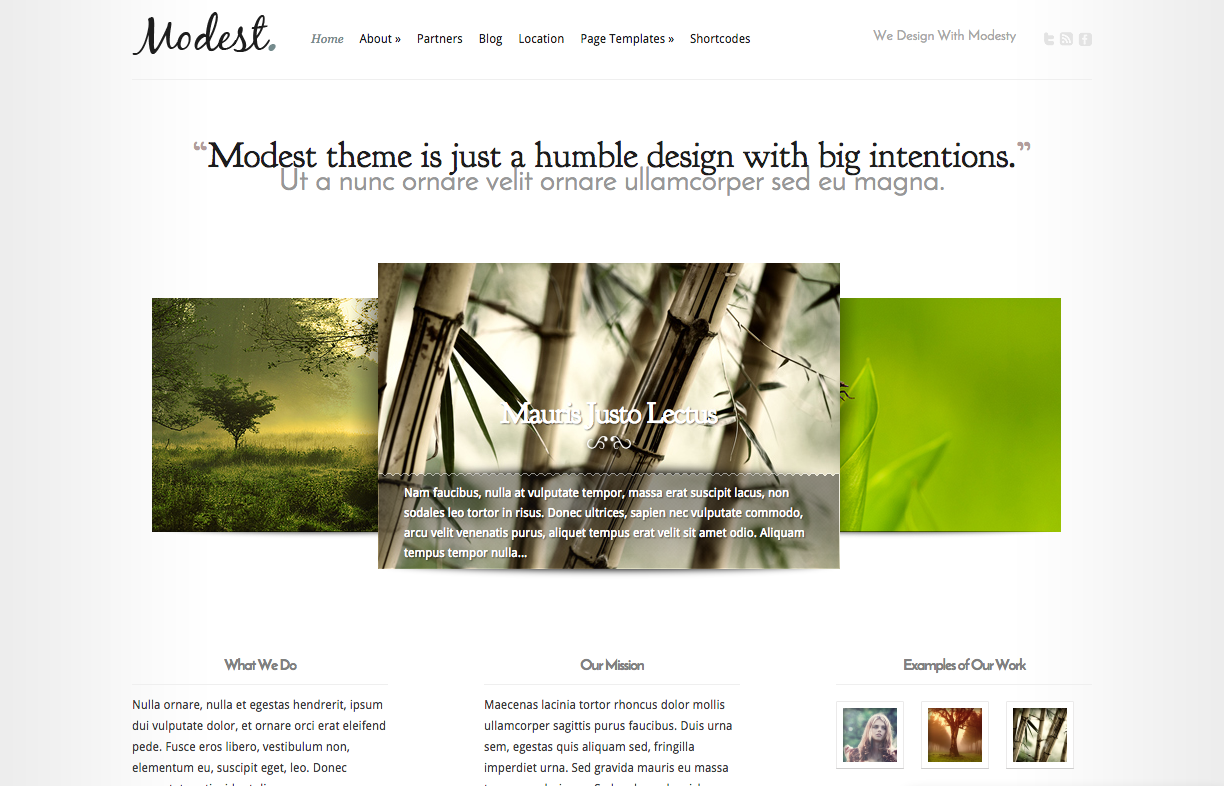 Modest Theme For a WordPress Food Blog