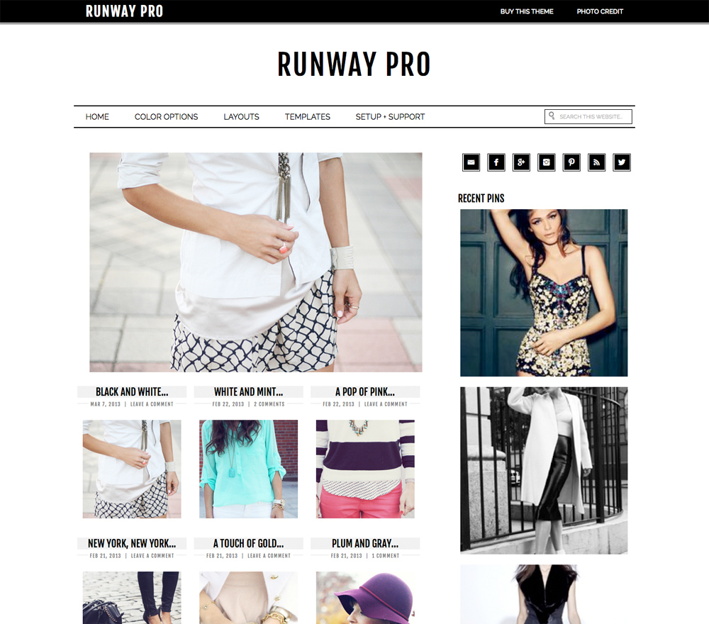 Runway Theme for WordPress Blogs