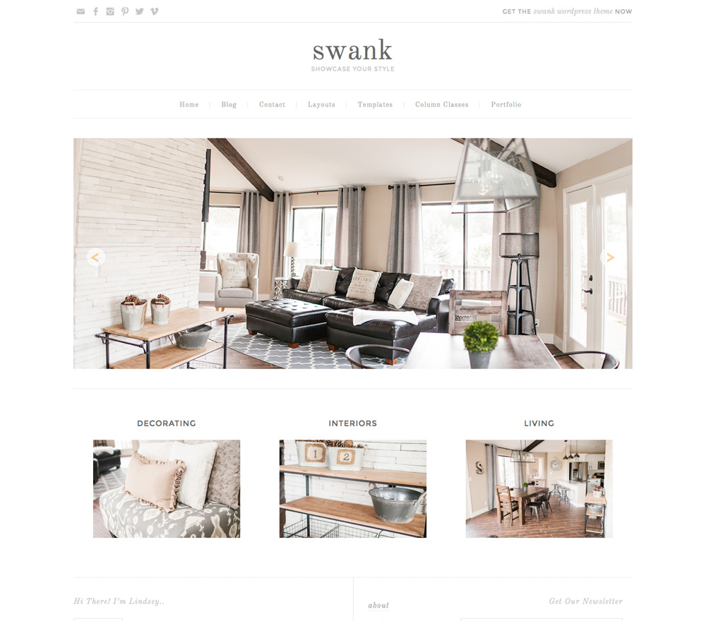 Swank Theme for a WordPress Food Blog