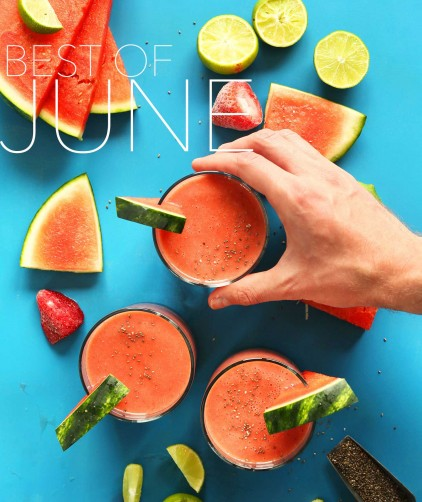 Photo of watermelon beverage for our Best of June post