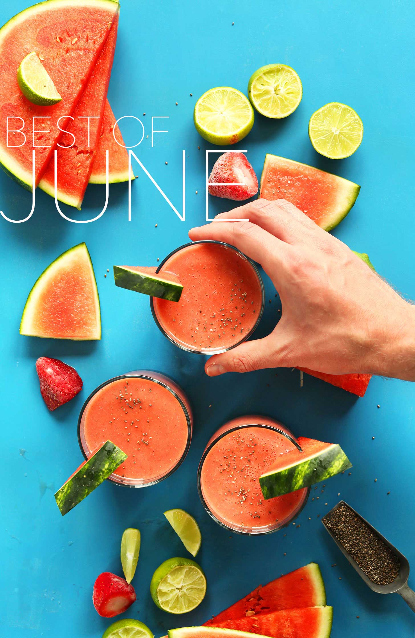 Grabbing a refreshing watermelon drink for our Best of June post