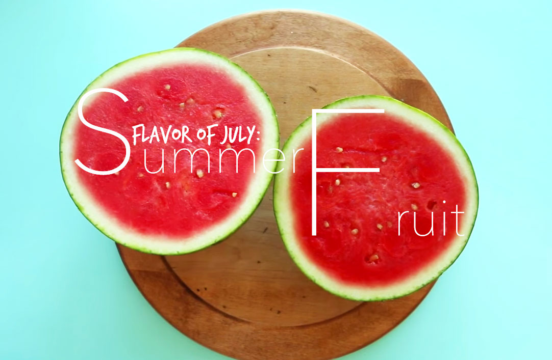 Picture of watermelons for our flavor of July
