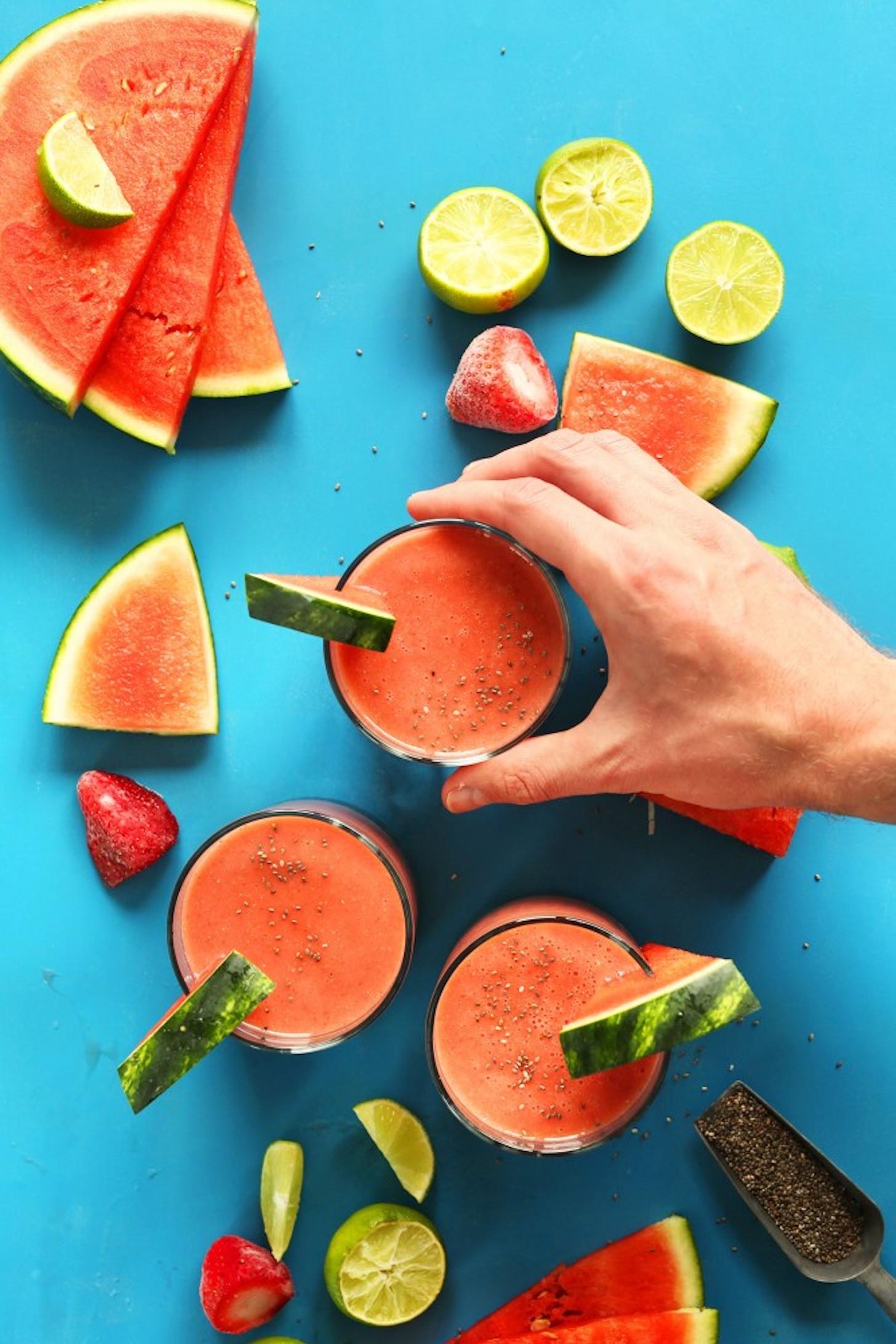 Strawberry Watermelon Smoothie Minimalist Baker Recipes,Veggie Burger Brands