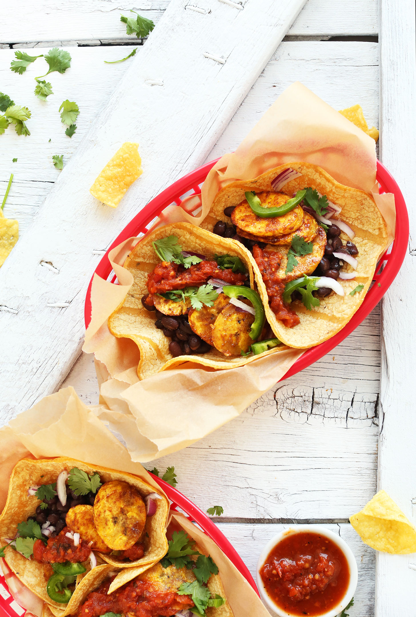 Spicy plantain black bean tacos minimalist baker recipes spicy plantain black bean tacos forumfinder Images