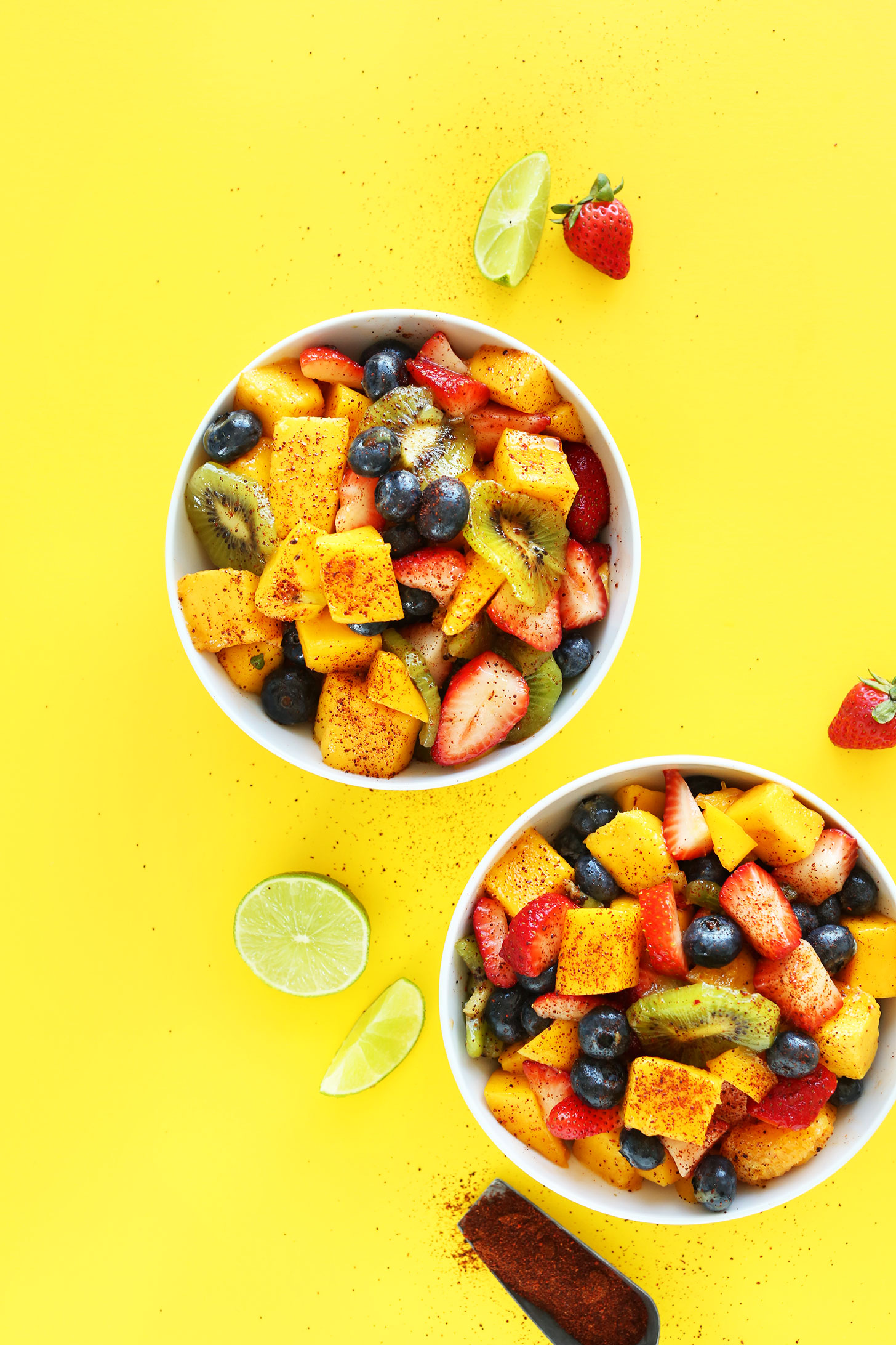 Bowls of our irresistible Spicy Fruit Salad