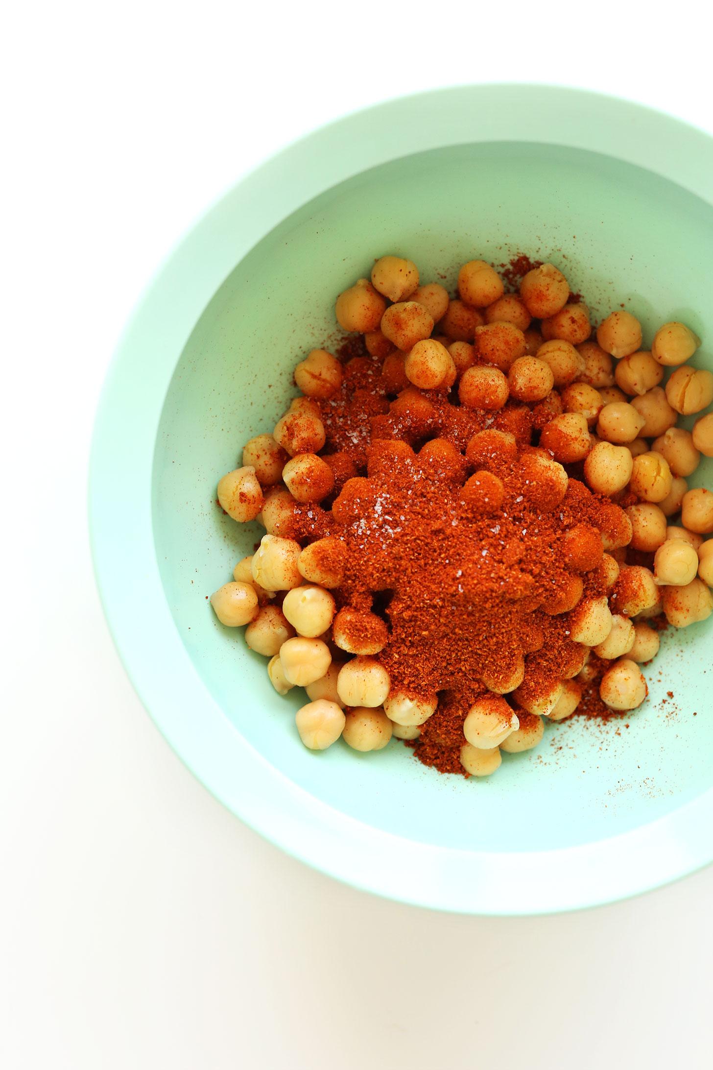 EASY Crispy Chickpeas Recipe #vegan #glutenfree #minimalistbaker