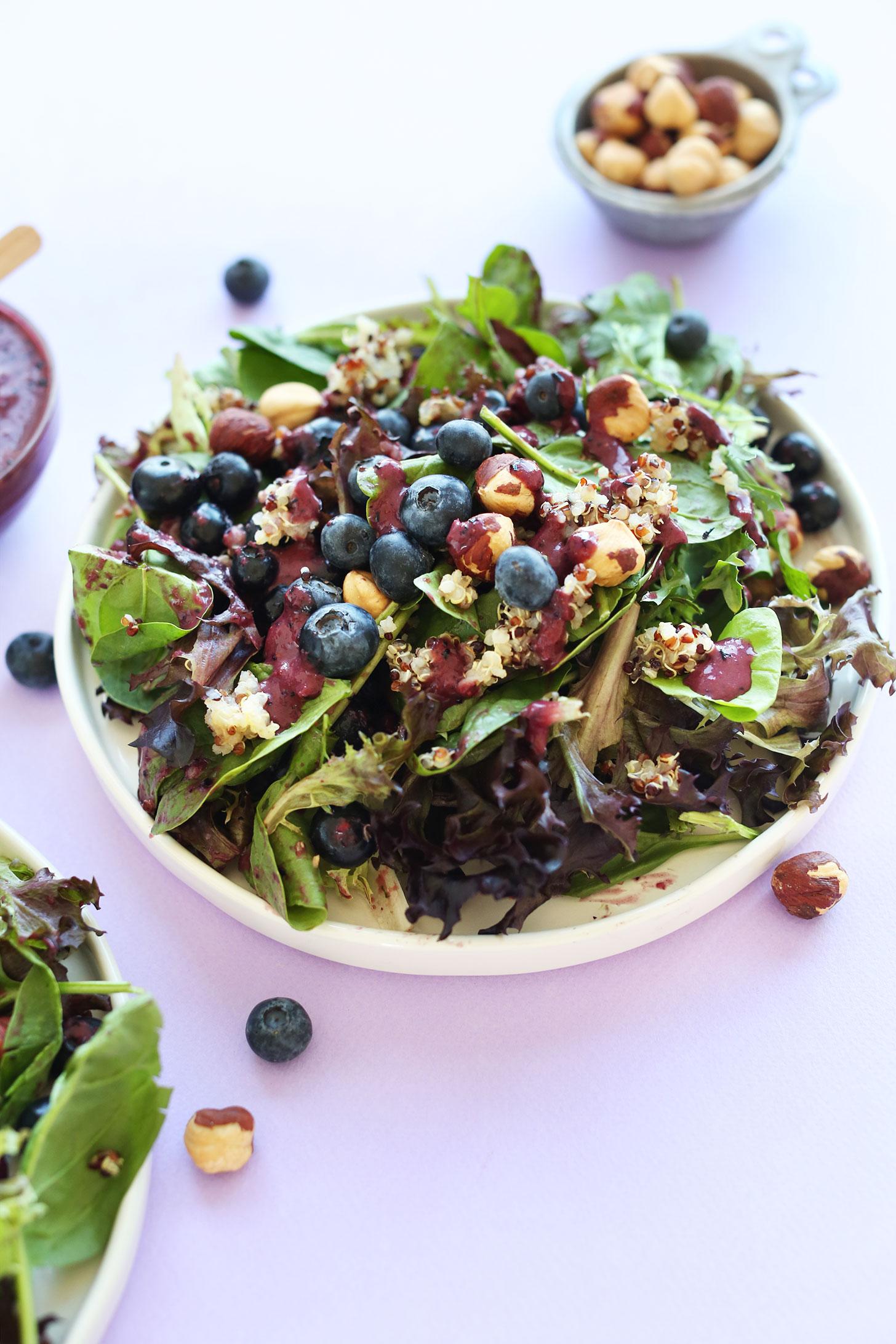 Blueberry quinoa salad minimalist baker recipes healthy blueberry quinoa hazelnut salad with a blueberry balsamic vinaigrette vegan recipe forumfinder Gallery