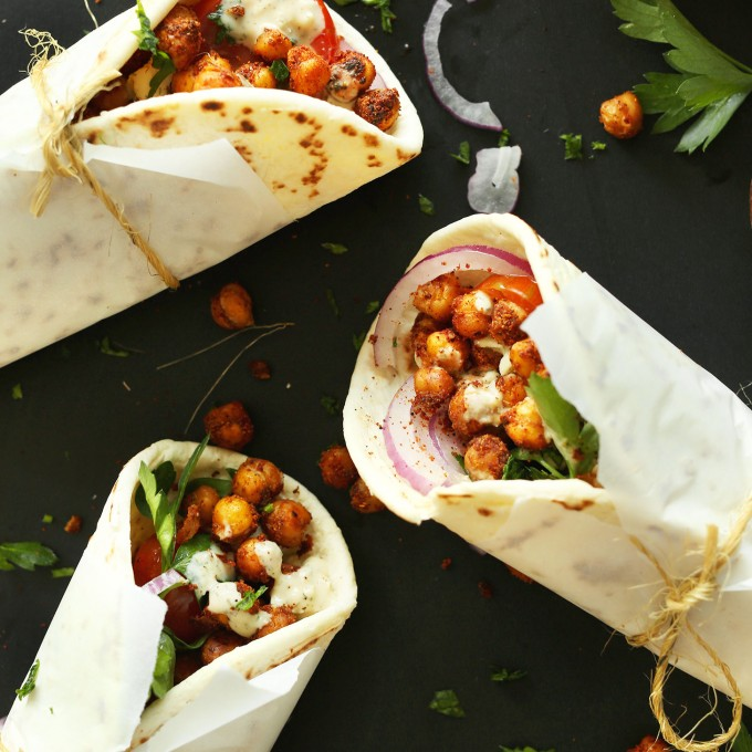 Chickpea Shawarma Wraps for a plant-based Mediterranean meal