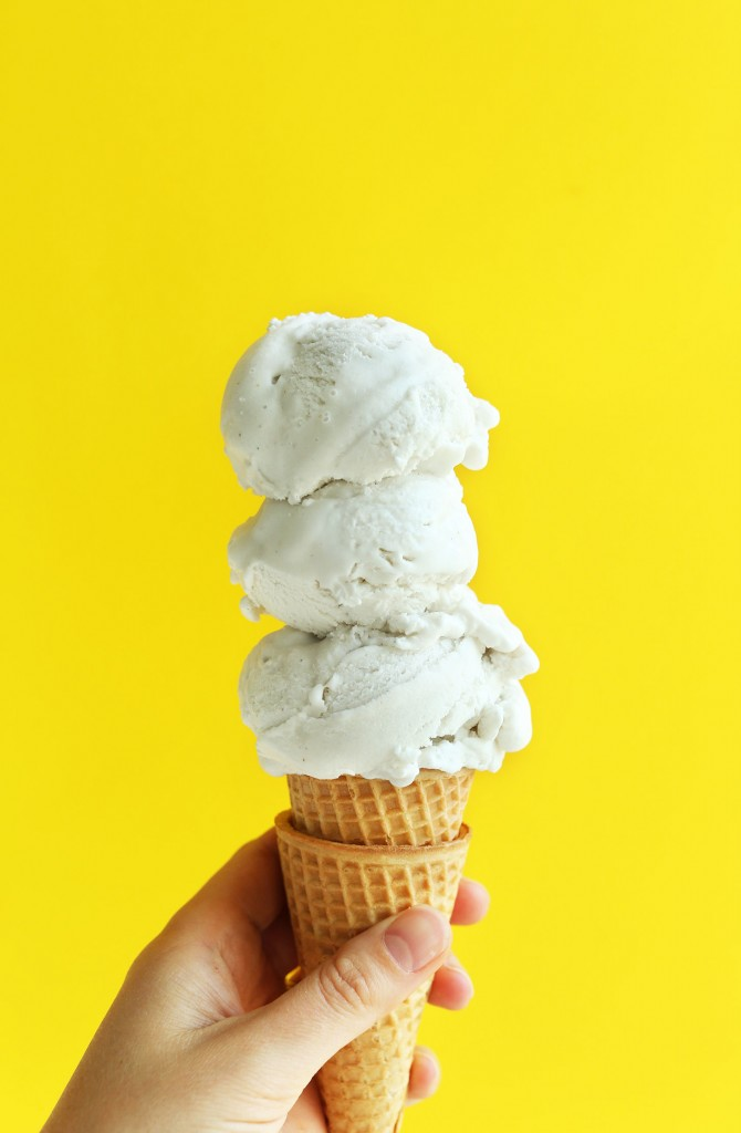 AMAZING 5 Ingredient Vanilla Coconut Ice Cream! Incredibly simple, perfectly sweet, INSANELY creamy! #vegan #glutenfree #icecream #dessert #recipe #vanilla #coconuticecream #coconut