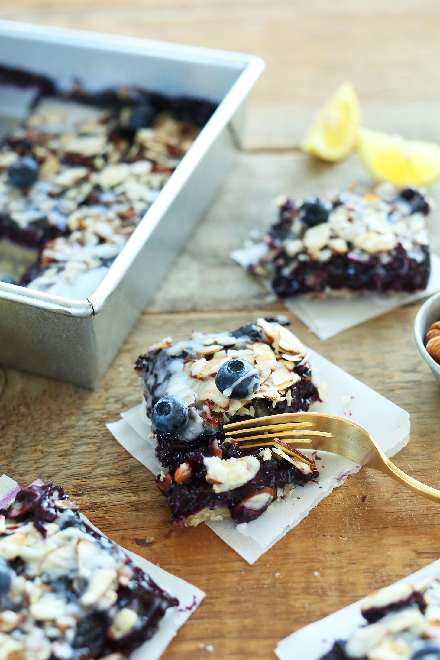 Almond Lemon Blueberry Pie Bars Minimalist Baker Recipes