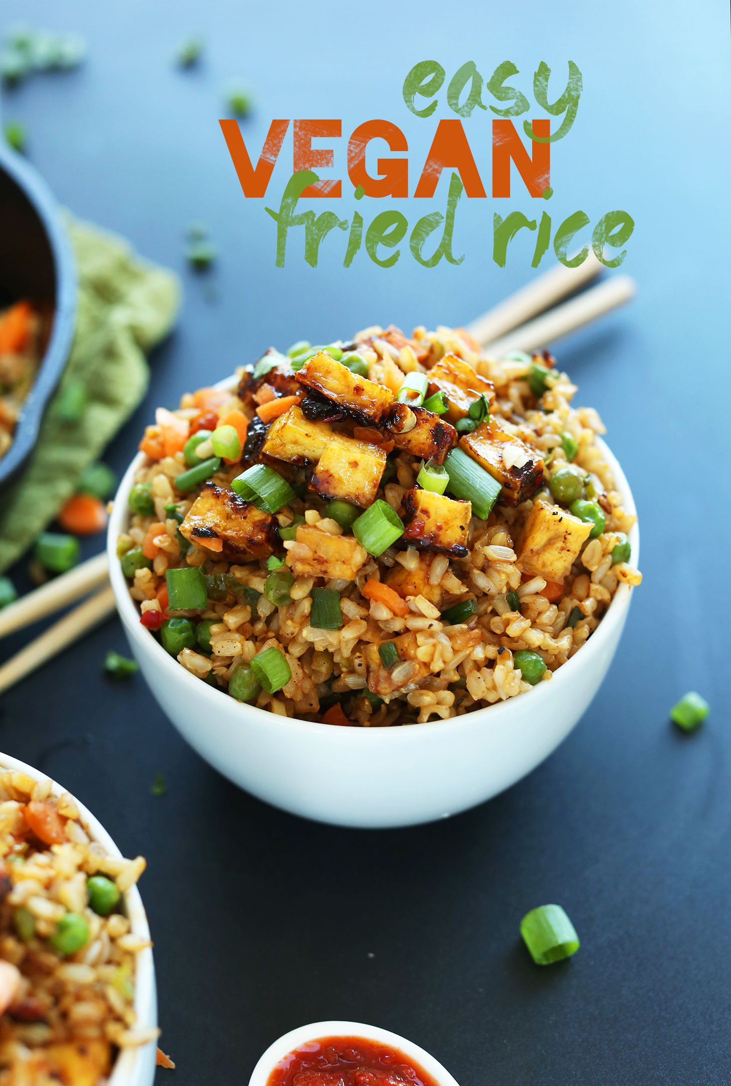 Vegan fried rice minimalist baker recipes a big serving of our amazing vegan fried rice with crispy tofu for dinner ccuart