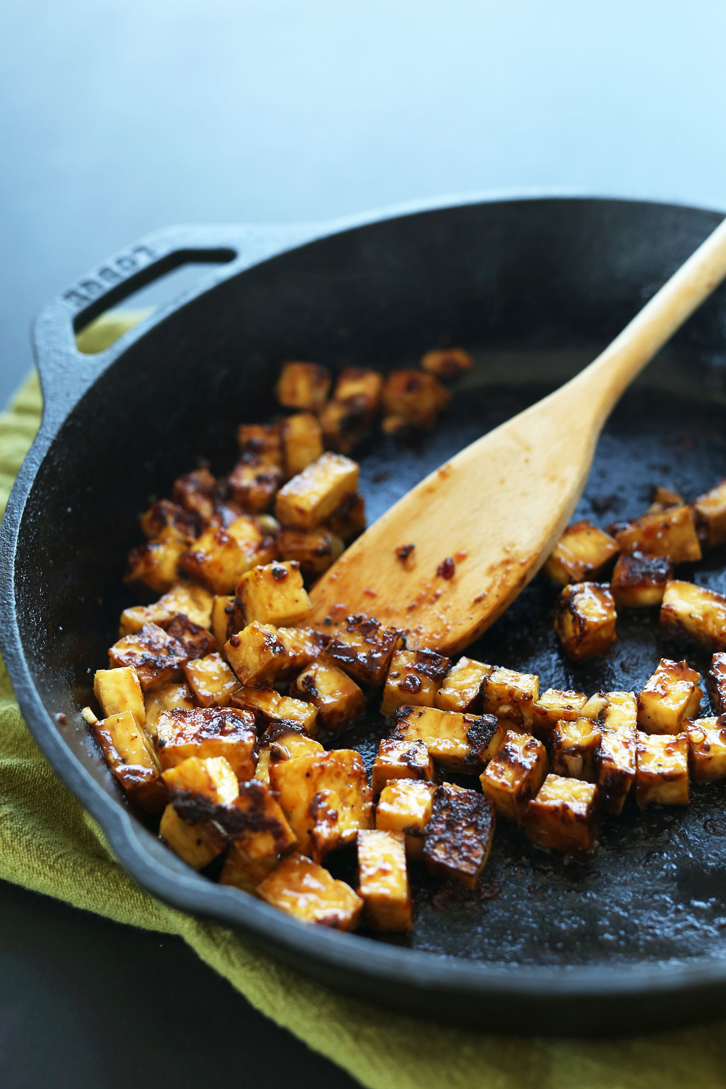 Easy Stir Fried Tofu Over Vegan Rice Savory Healthy And SO Satisfying