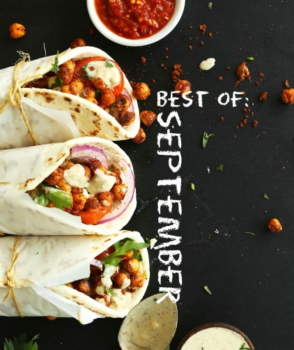Vegan wraps to represent our Best of September recipes