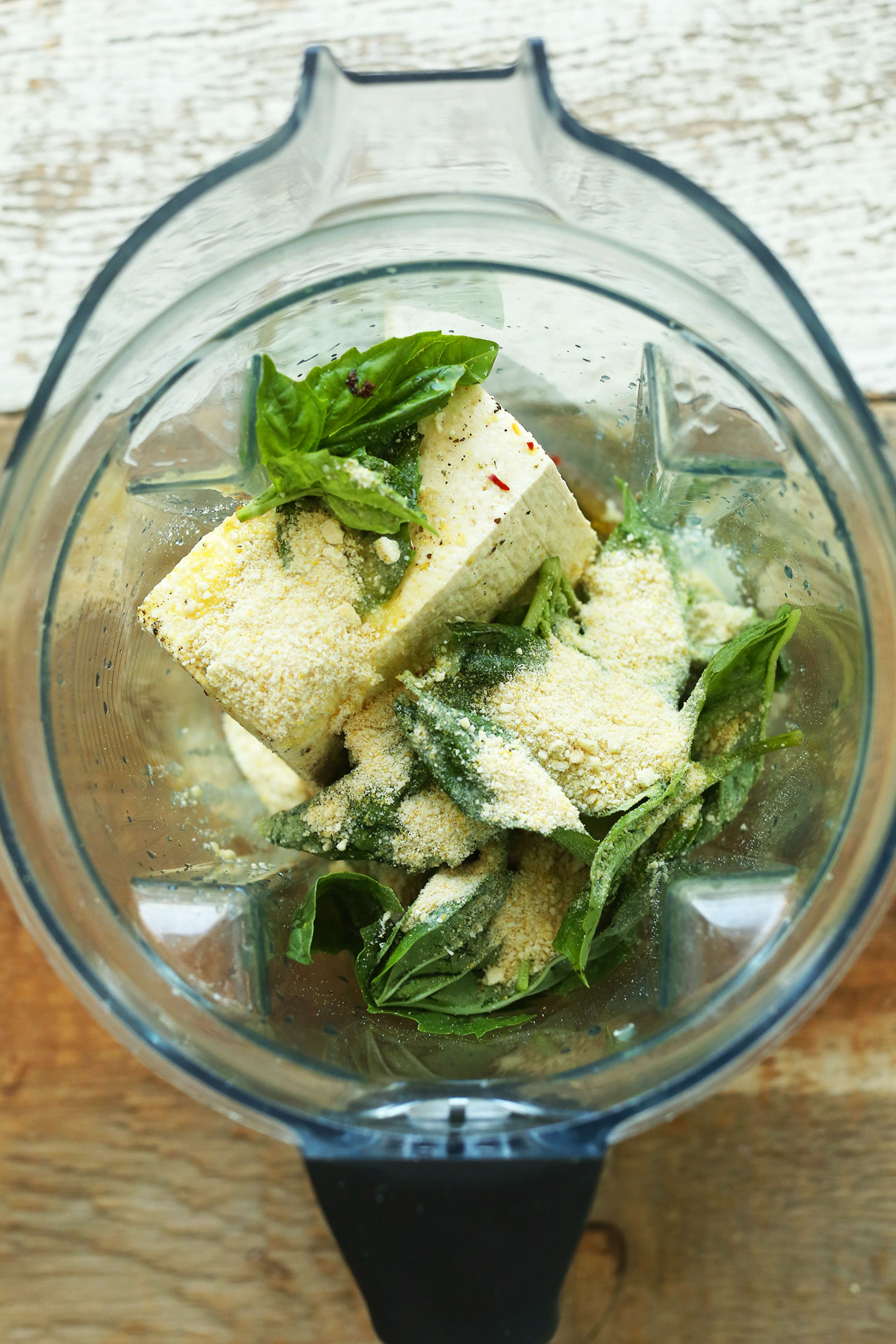 Making easy tofu ricotta in a blender