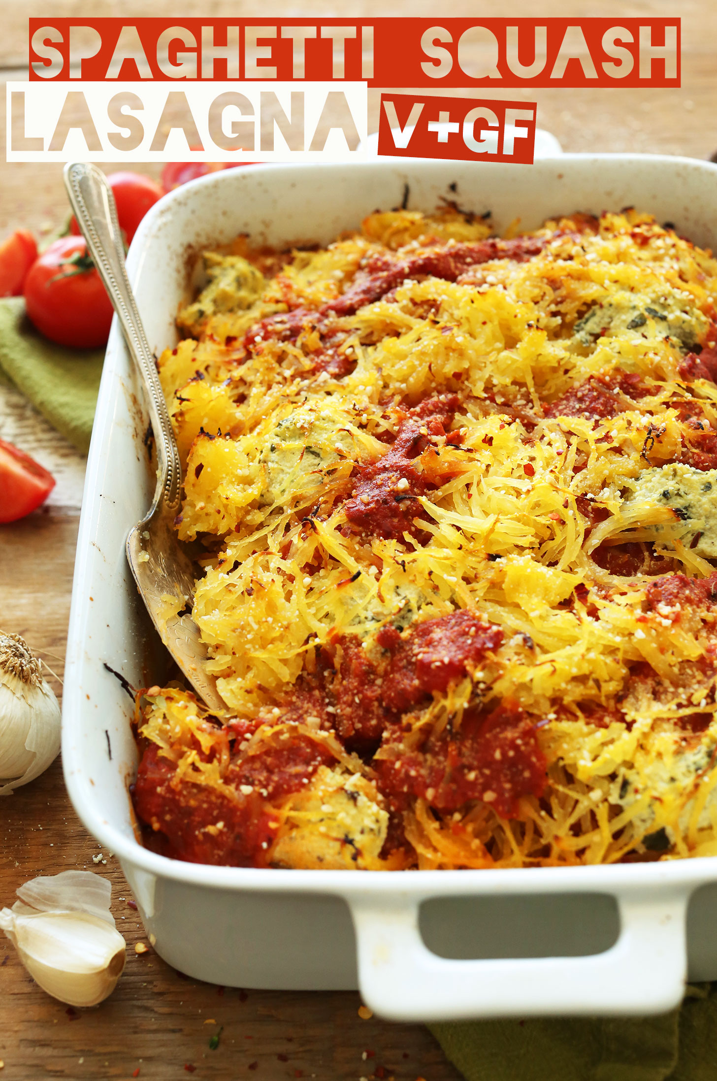 Spaghetti squash lasagna minimalist baker recipes healthy spaghetti squash lasagna bake 10 ingredients plant based so delicious forumfinder Images