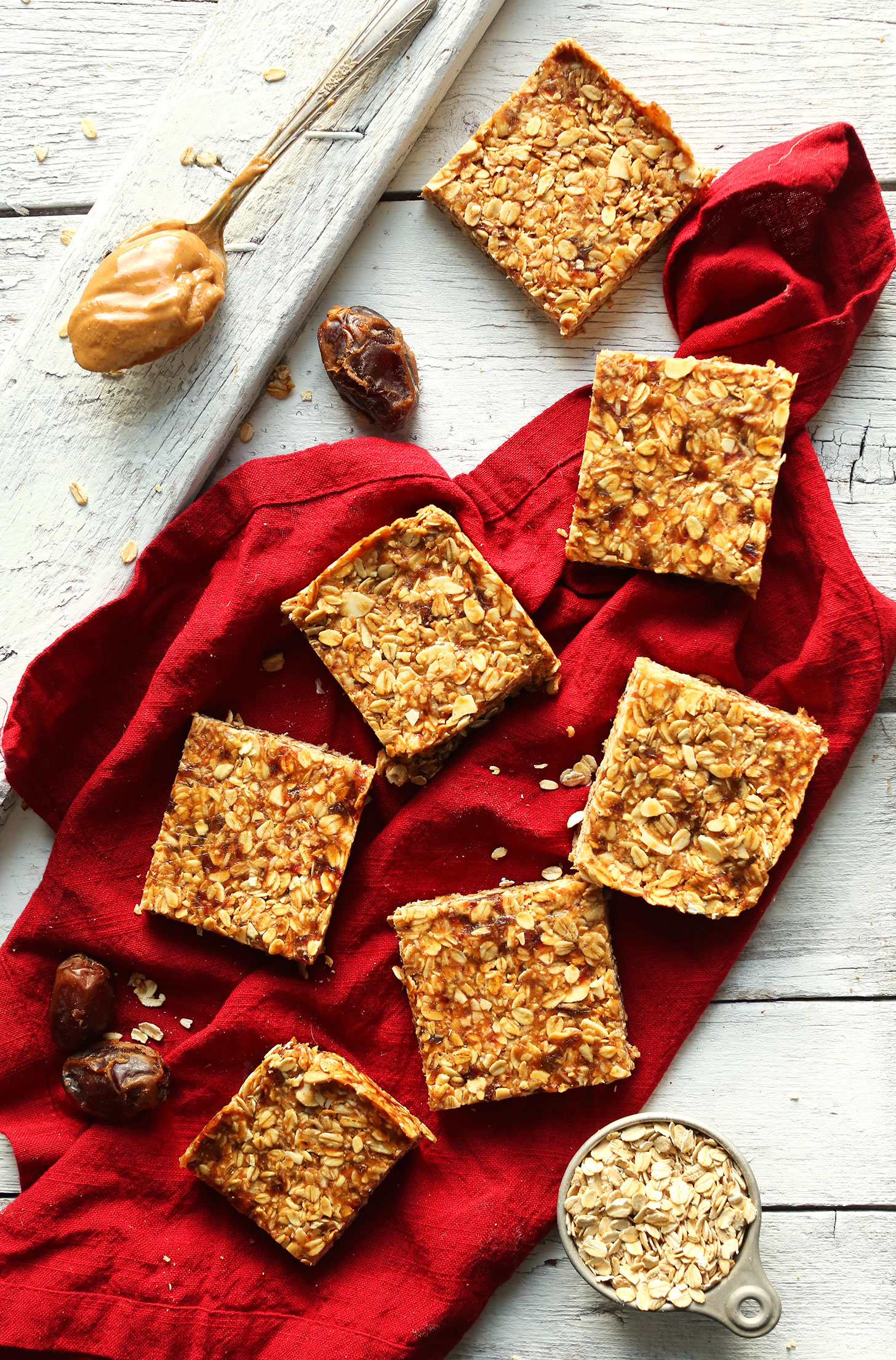 Squares Of Our Recipe For The Best Peanut Butter Granola Bars