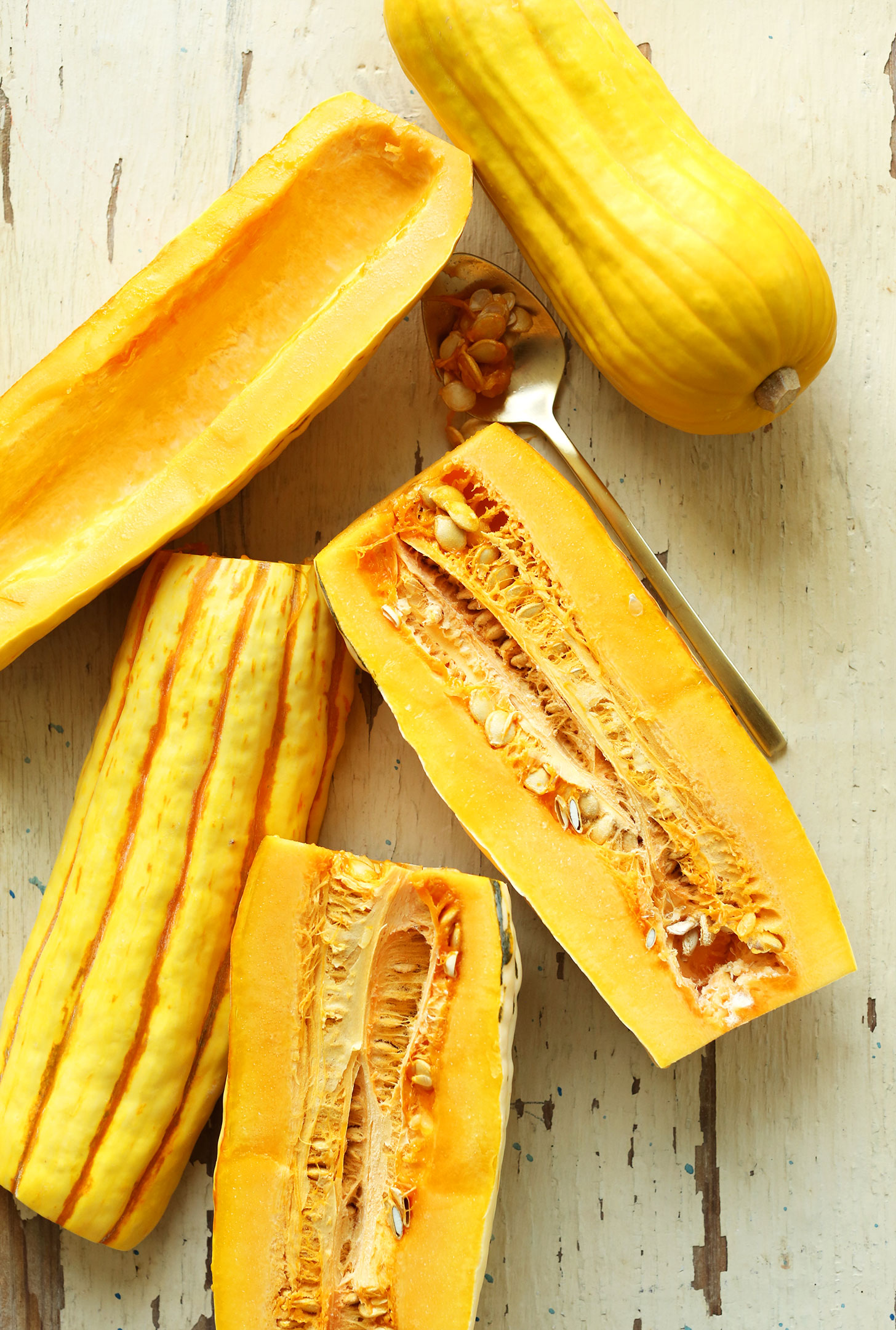Delicata squash for making a delicious vegan Thanksgiving recipe