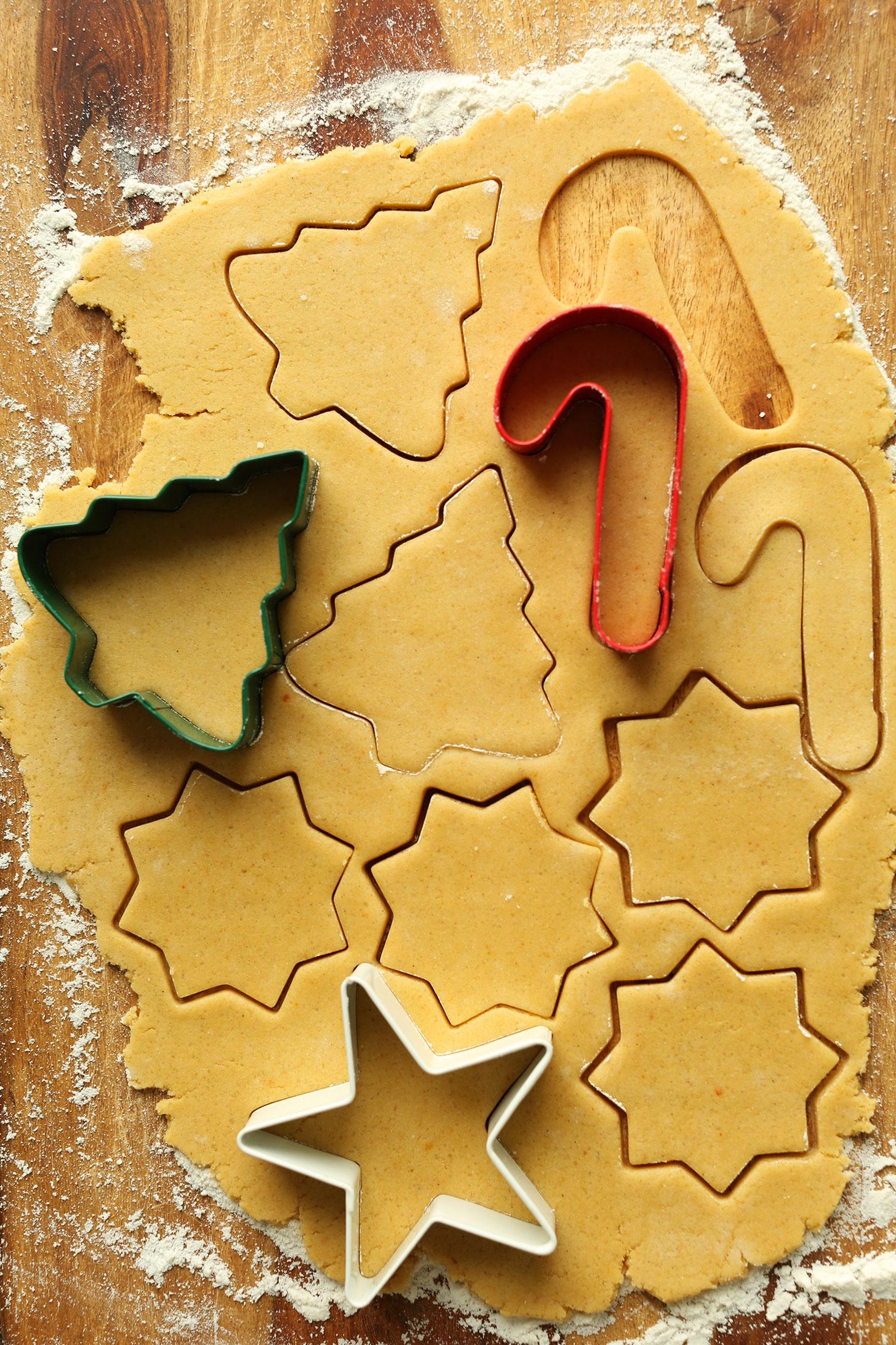EASY 1-Bowl Gluten-Free Sugar Cookies! Slightly crisp, perfectly sweet #vegan #glutenfree #cookies #dessert #minimalistbaker