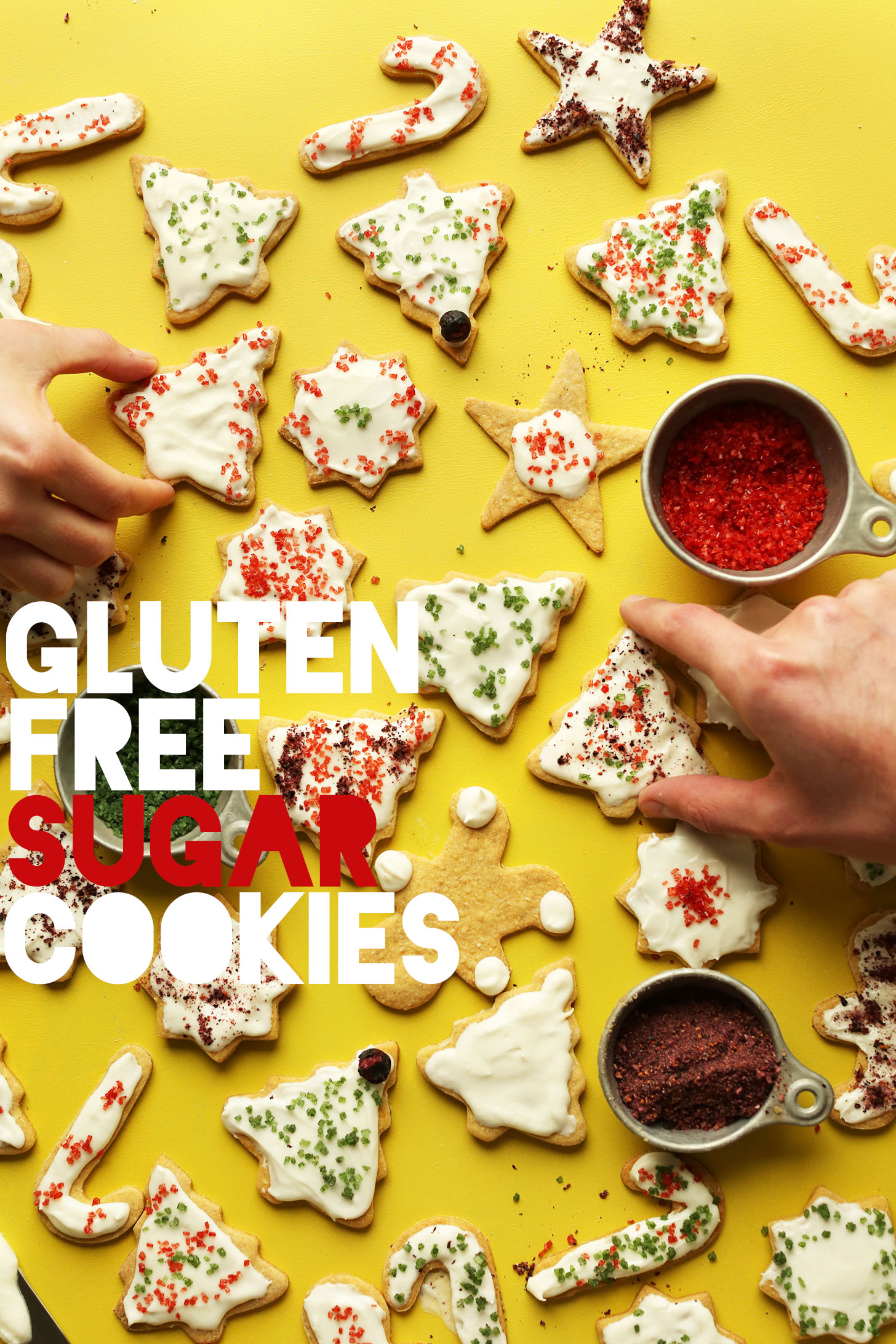 EASY Gluten-Free Sugar Cookies! No eggs, no dairy, NO BUTTER! #vegan #glutenfree #cookies #dessert #recipe #minimalistbaker
