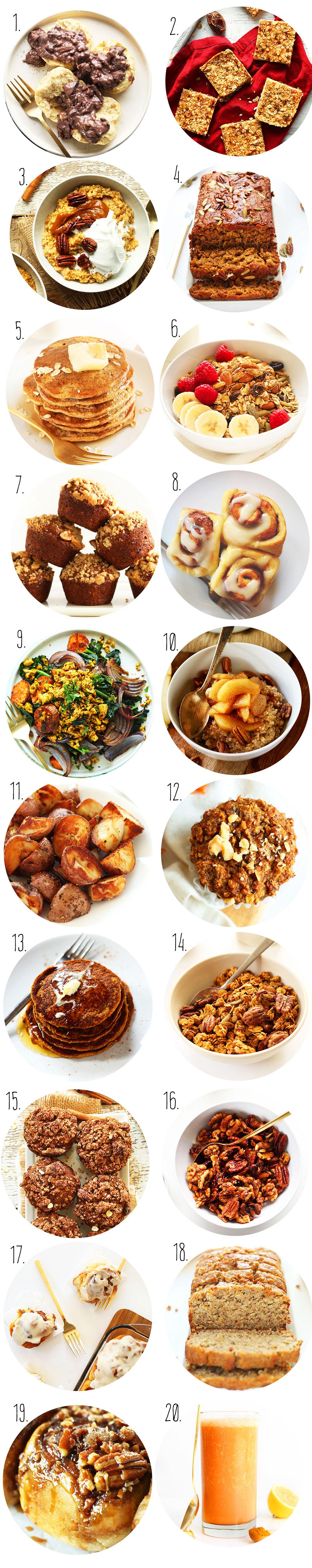 Collection of photos of vegan Thanksgiving recipe ideas